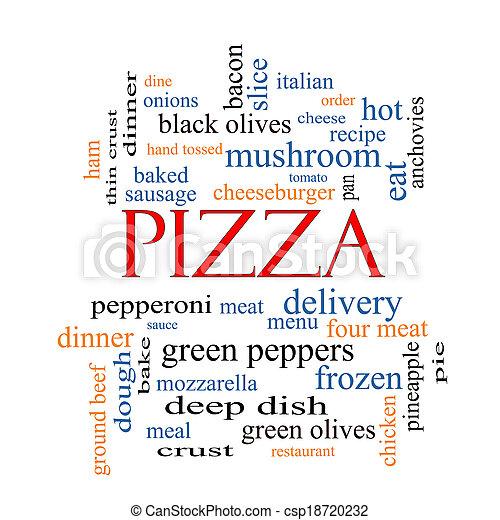 概念, 単語, 雲, ピザ - csp18720232