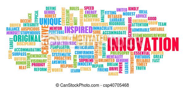 概念, 単語, 雲, 革新 - csp40705468