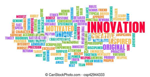 概念, 単語, 雲, 革新 - csp42944333