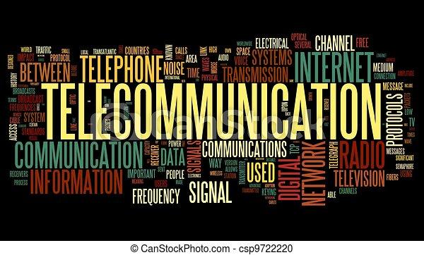 概念, 単語, 電気通信, 雲, タグ - csp9722220