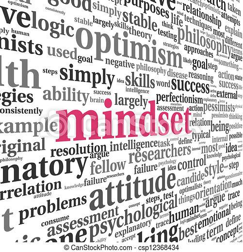 概念, 単語, mindset, 雲, タグ - csp12368434
