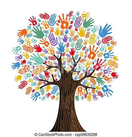 概念, 多様性, 木, 手, 文化, 人間 - csp58635298