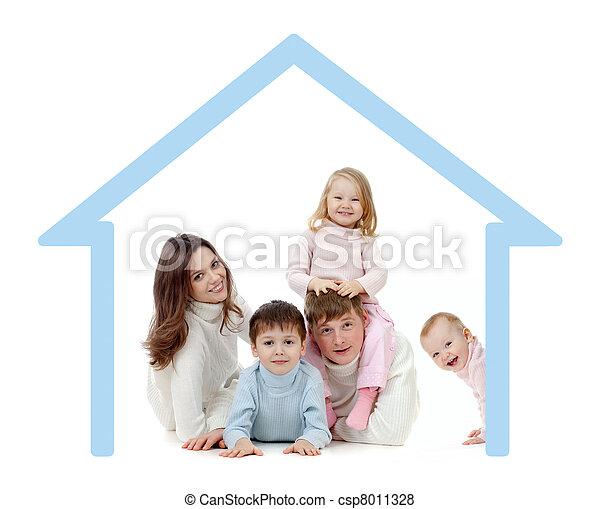 概念, 家庭, 他们, 自己, 家, 开心 - csp8011328