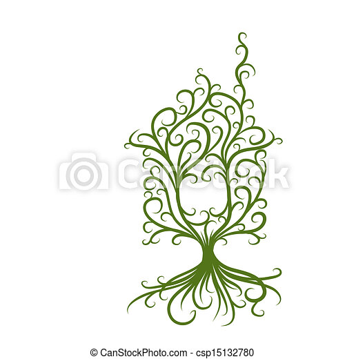 概念, 家, エコロジー, 緑, デザイン, あなたの - csp15132780