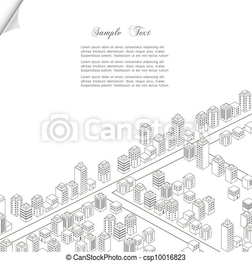 概念, 建築, 背景 - csp10016823