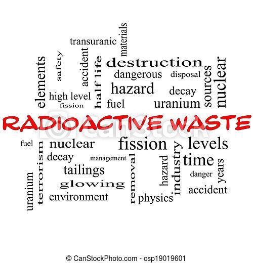 概念, 放射性, 帽子, 雲, 単語, 無駄, 赤 - csp19019601