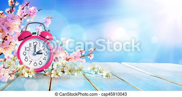概念, 春, -, 節約, 日光, 時間, 前方へ - csp45910043