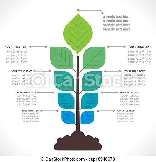 概念, 樹, 創造性, info-graphics - csp18348673