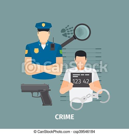 概念, 法律, 犯罪 - csp39546184