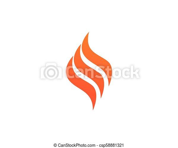 概念, 火, エネルギー, ガス, オイル, ベクトル, 炎, テンプレート, ロゴ, アイコン - csp58881321