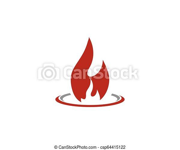 概念, 火, エネルギー, ガス, オイル, ベクトル, 炎, テンプレート, ロゴ, アイコン - csp64415122