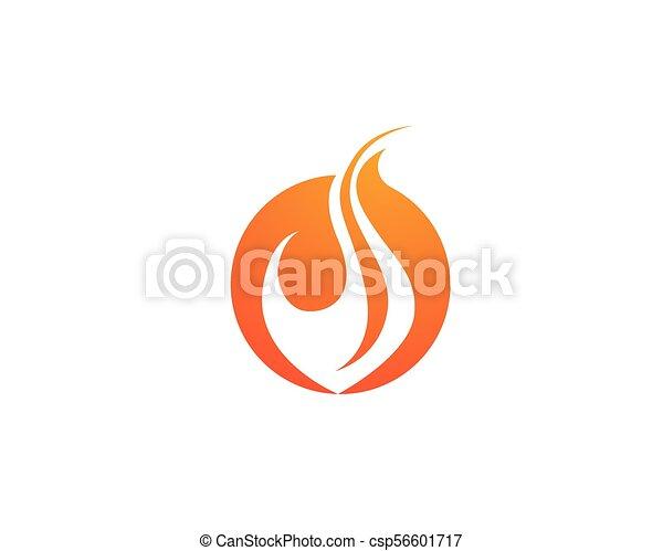 概念, 火, エネルギー, ガス, オイル, ベクトル, 炎, テンプレート, ロゴ, アイコン - csp56601717