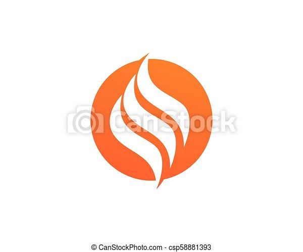 概念, 火, エネルギー, ガス, オイル, ベクトル, 炎, テンプレート, ロゴ, アイコン - csp58881393