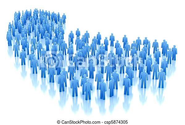 概念, 被隔离, 人群, 人們 - csp5874305