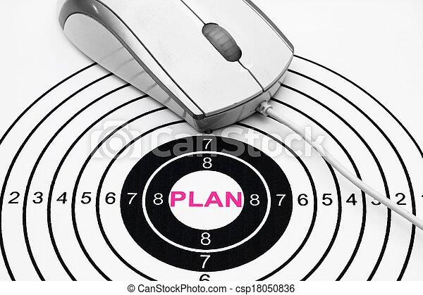 概念, 計画, ターゲット - csp18050836