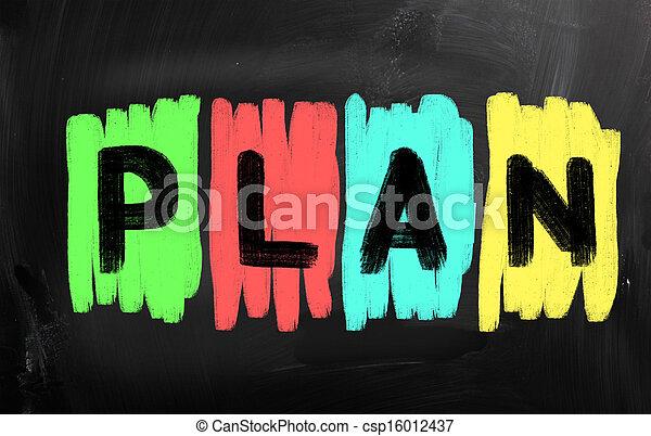 概念, 计划, 商业 - csp16012437