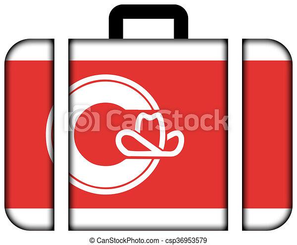概念, 運輸, 旅行, 旗, 小提箱, 圖象, calgary. - csp36953579