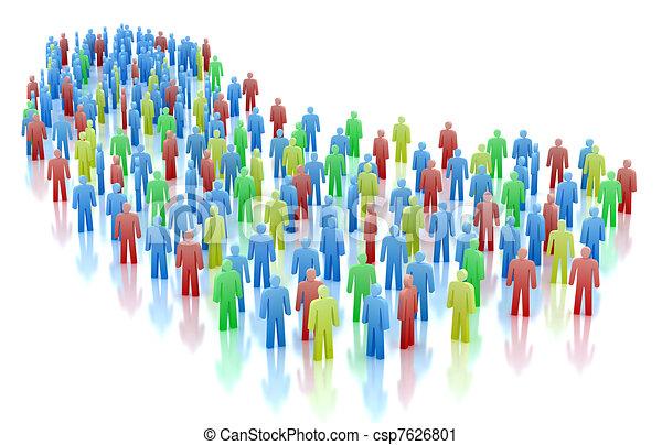 概念, 鮮艷, 人群, 人們 - csp7626801