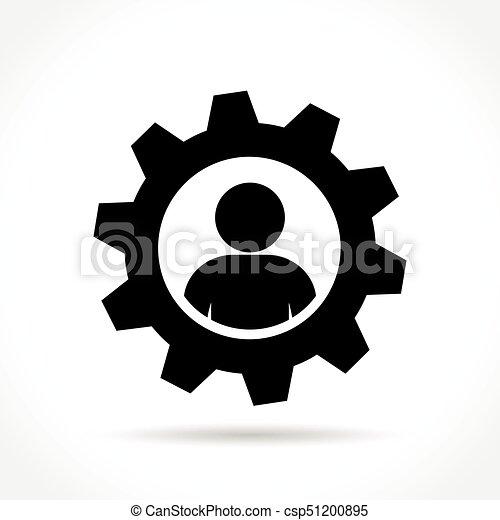 概念, 齿轮, 人, 图标 - csp51200895