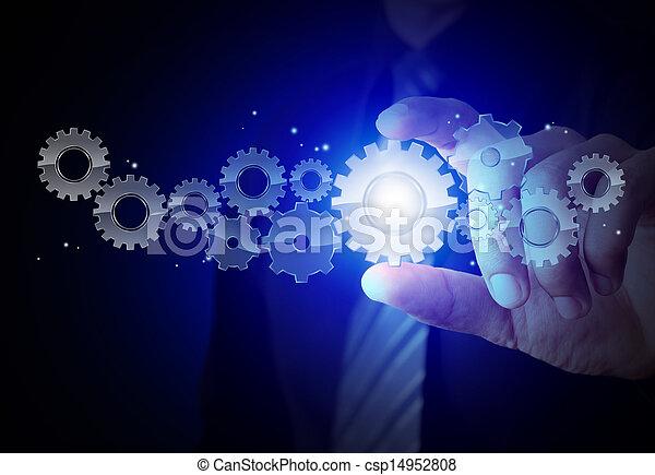 概念, 齿轮, 成功 - csp14952808