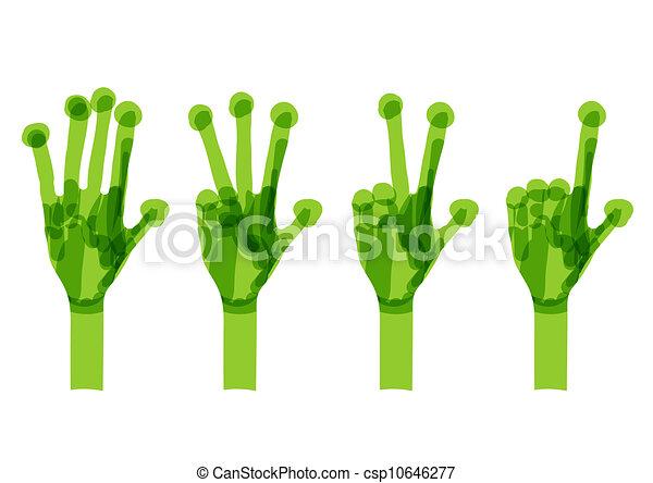 概念, set., エコロジー, 緑, 手, デザイン, あなたの - csp10646277