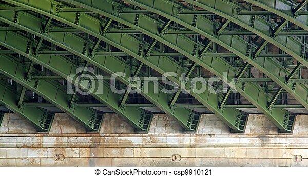 構造, 下に, 橋, 鋼鉄 - csp9910121
