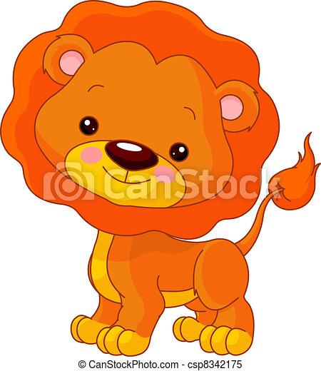 樂趣, 獅子, zoo. - csp8342175