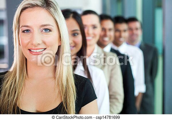 横列, グループ, ビジネス 人々 - csp14781699
