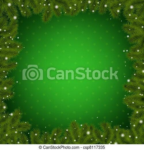 樹, 邊框, 聖誕節, 新年 - csp8117335