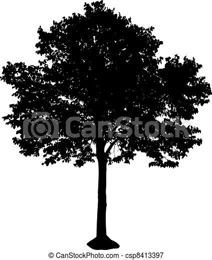 樹, 黑色半面畫像 - csp8413397