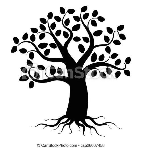樹, 黑色半面畫像 - csp26007458