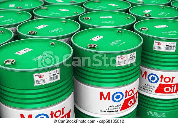 樽, オイル, グループ, 積み重ねられた, モーター, 倉庫, 潤滑油 - csp58185812