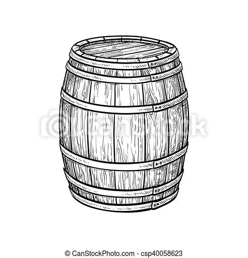 樽, ワイン, ビール, ∥あるいは∥ - csp40058623