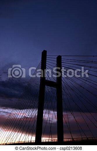 橋梁, 傍晚 - csp0213608