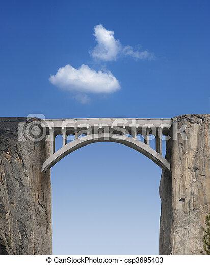 橋梁, 天空 - csp3695403