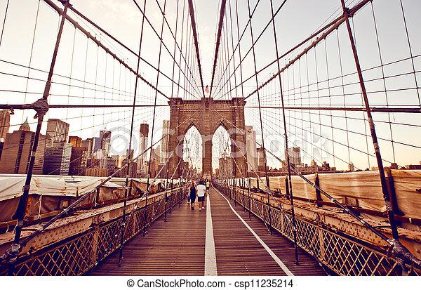 橋梁, 布魯克林, 約克, 新 - csp11235214