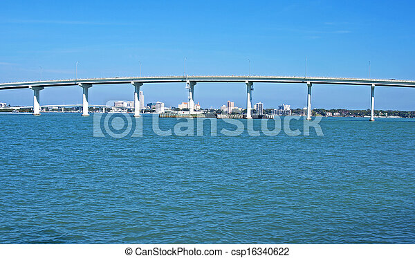 橋梁, 部份, tampa, 海灣 - csp16340622