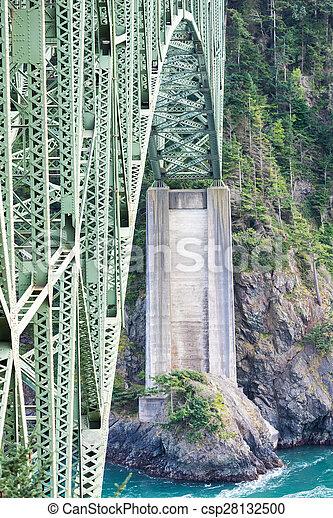 橋, 上に, 川 - csp28132500