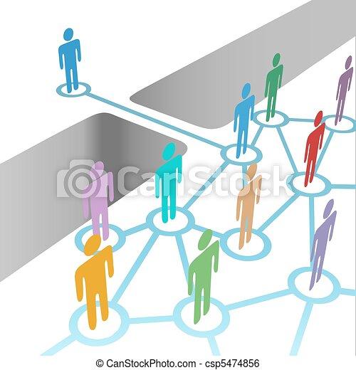 橋, 参加しなさい, ネットワーク, 合併, 会員, 多様 - csp5474856