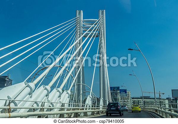 橋, 渡ること, 自動車, 現代 - csp79410005