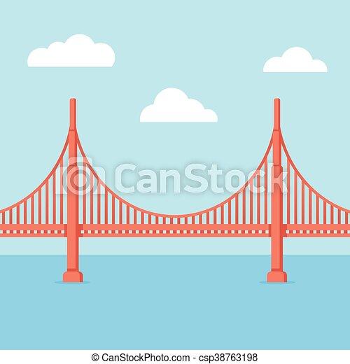 橋, 門, 金 - csp38763198