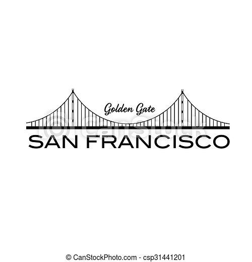 橋, francisco, san, 門, 金 - csp31441201