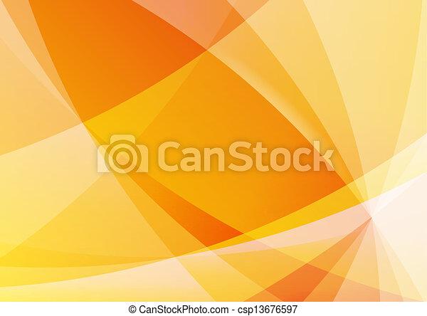 橙, 摘要, 牆紙, 背景, 黃色 - csp13676597
