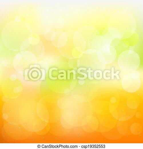 橙, 摘要, 矢量, 背景, 黃色 - csp19352553