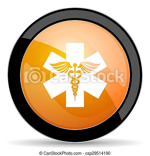 橙, 醫院, 圖象, 緊急事件徵候 - csp29514190