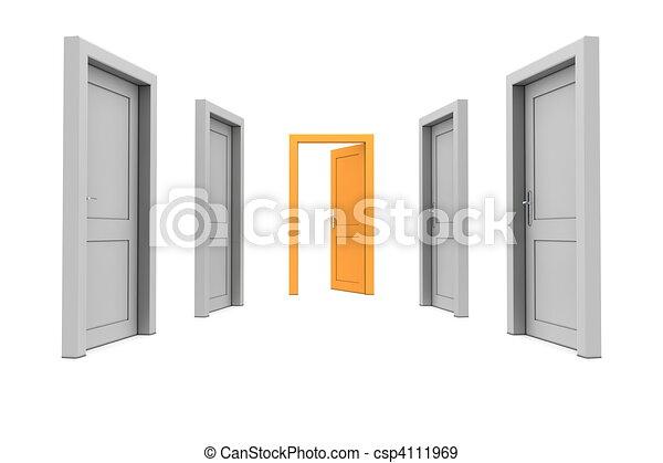 橙, 門, 拿 - csp4111969