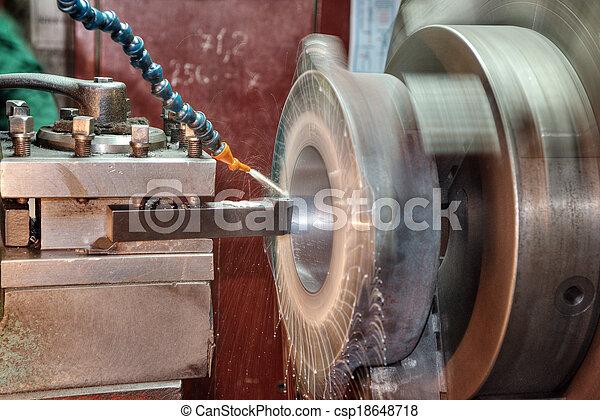 機器, 車床 - csp18648718