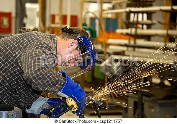 機械工, 金属, こする - csp1211757