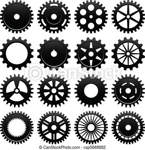 機械, 車輪, はめば歯車, ギヤ - csp5668882
