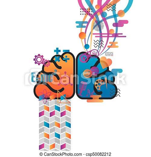 機能, 脳, レトロ, チャート - csp50082212
